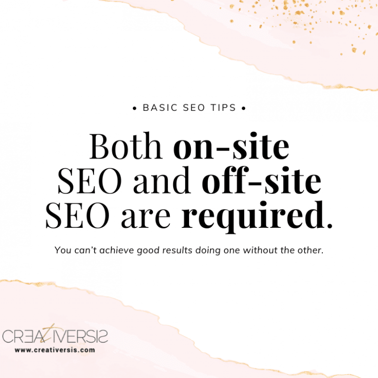 on-site off-site seo