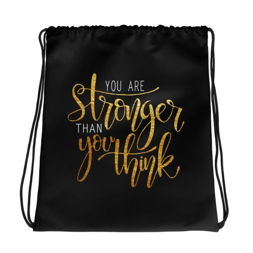 #stronger | Drawstring bag | Support Collection 1