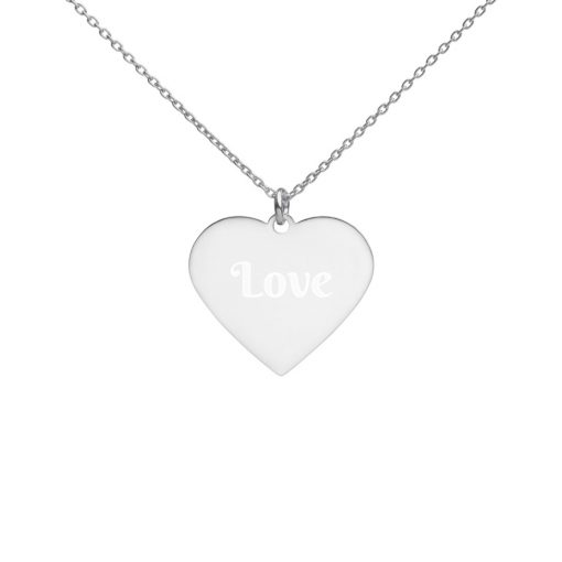 #personalizeIT | Engraved Silver Heart Necklace | Custom collection 2