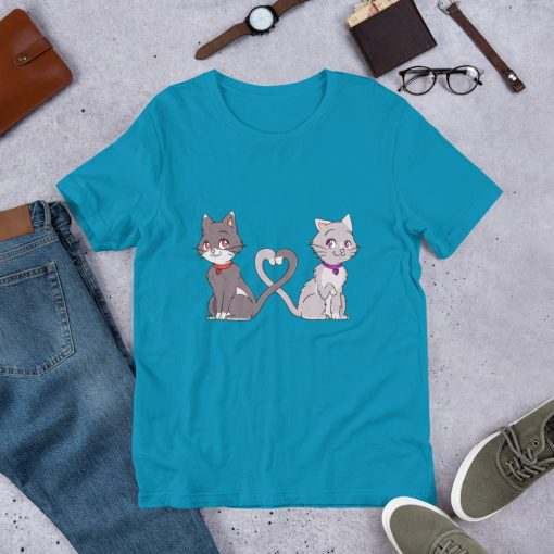 #catCouple | Short-Sleeve T-Shirt | Valentine's Day Collection 9
