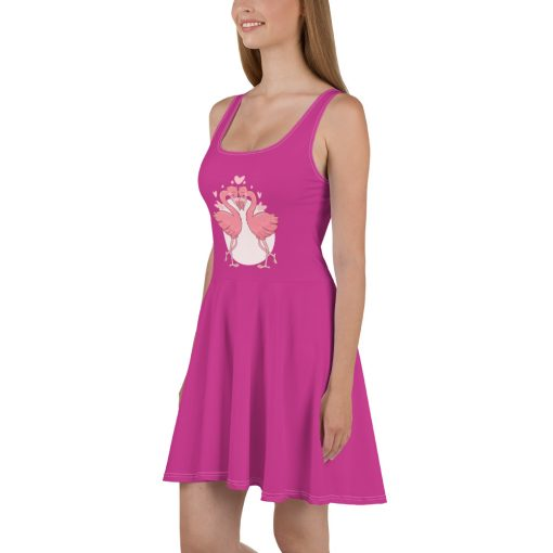 #flamingoes | Skater Dress | Valentine's Day Collection 2