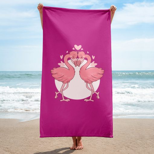 #flamingoes | Towel | Valentine's Day Collection 2