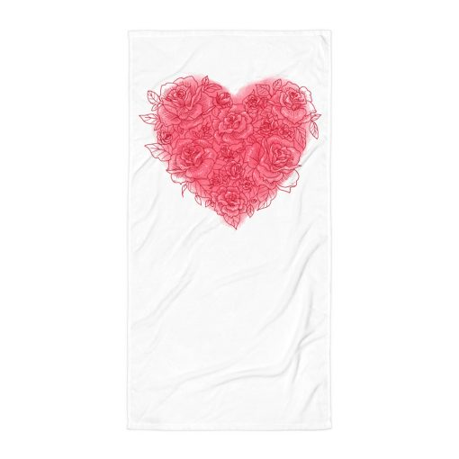 #roseHeart   Towel   Valentine's Day Collection 1