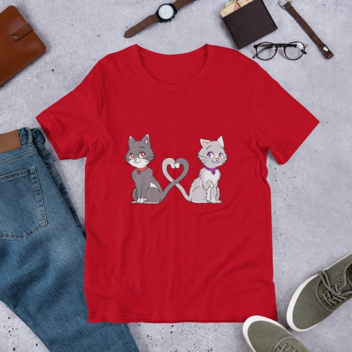 #catCouple | Short-Sleeve T-Shirt | Valentine's Day Collection 12