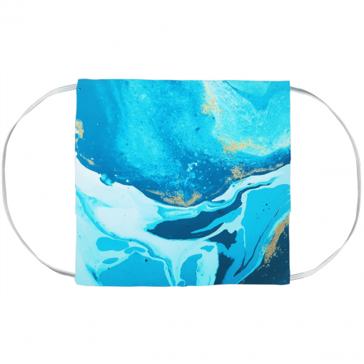 Blueish Watercolor Face Mask Cover 1